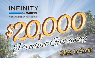 Infinity from Marvin $20,000 Sweepstakes