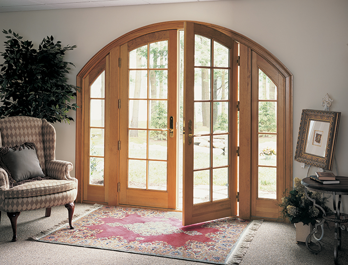 Marvin arch top french doors metropolitan windows for Arch door design