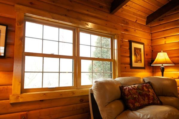 Photo gallery replacement windows metropolitan window for Log home windows