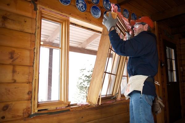 Photo gallery replacement windows metropolitan window for Best replacement windows for log homes